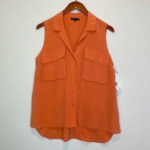 Lafayette 148 NEW 100% Silk Sleeveless Top Blouse